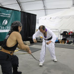 Pak from Fremont perform Iron Throat bending 4 iron rods.