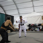 William from Los Angeles perform Iron Throat bending 2 Iron Rods.