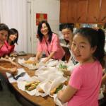 Preparing food for everyone!